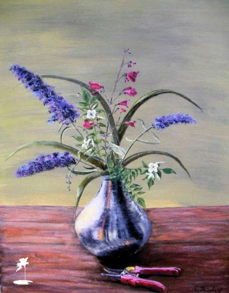 Island of Art - Paintings - Caroline Kinley - Still life with flowers