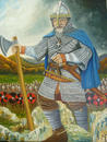 Alan Hay - Portrait of Alan in Battle Re-enactment - as Oswald the Devout by Marilyn Comparetto