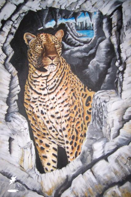 Leopard on the Rocks by Marilyn Comparetto